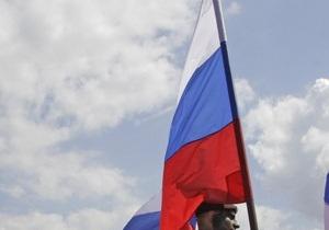 В Чернигове двери почетного консульства России облили черной краской