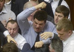 Фотогалерея: Сила есть. В Верховной Раде снова подрались депутаты