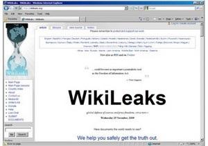 Часть нового досье Wikileaks опубликовали в СМИ