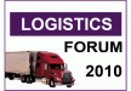 УВК традиционно станет логистическим партнёром Logistics Forum 2010