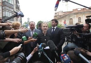 Тимошенко надеется на честность судов