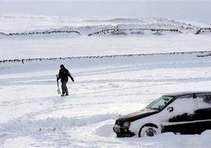 На Британию обрушились сильные снегопады