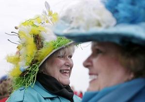 Католическая Пасха: Жители Нью-Йорка вышли на парад шляп