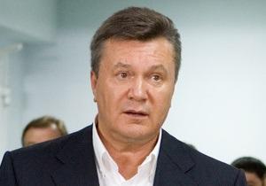 Янукович просит воздержаться от проведения массовых мероприятий по всей стране