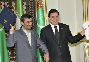 Лидеры Ирана и Туркменистана открыли новый газопровод