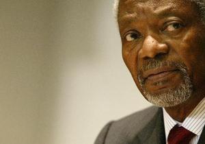 Аннан призвал мировое сообщество способствовать передаче власти в Сирии