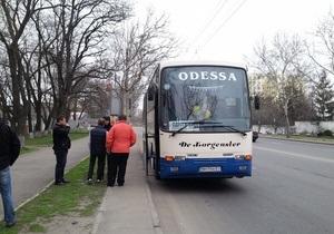 оппозиция - акция Вставай, Украина! - В УДАРе заявили, что автобус с одесскими оппозиционерами не пустили на митинг в Киев