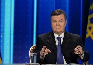 Янукович поздравил украинцев с 23-летием суверенитета страны