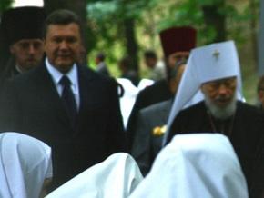 Глава УПЦ МП благословил Януковича на участие в выборах