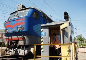 В Киевской области задымился электровоз