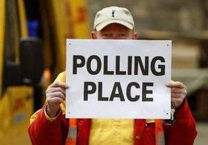 Британские консерваторы лидируют на выборах в парламент