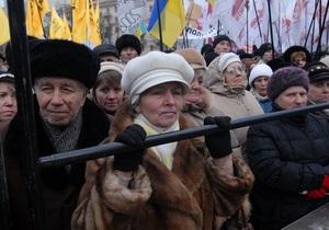 СМИ: Представителя Фронта змін освистали на Софиевской площади