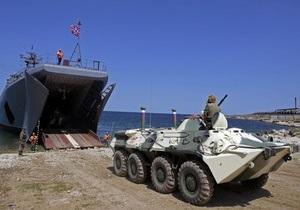 Черноморский флот РФ начал масштабные учения