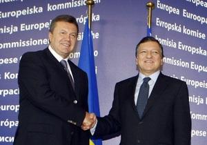Диалог Украина - ЕС: Янукович общался с Баррозу на 45 минут дольше, чем планировал