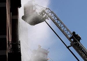 В центре Киева горела многоэтажка