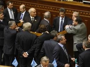 Партия регионов заблокировала Раду