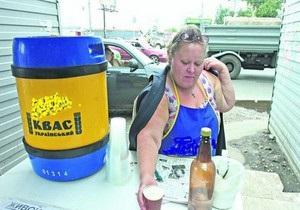 В Киеве начали продавать квас из термосов