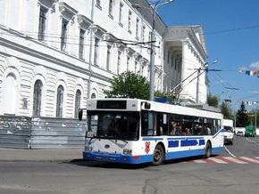 В Полтаве горел троллейбус