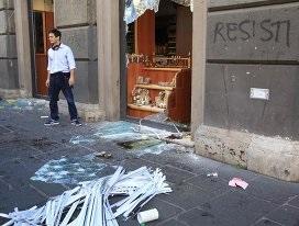 Власти Рима оценили ущерб от субботних беспорядков в 2 миллиона евро