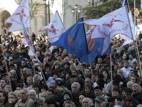 Грузинская оппозиция проведет митинг в связи с неудачами сборной по футболу