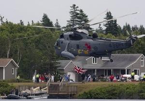 Принц Уильям посадил вертолет на воду в Канаде