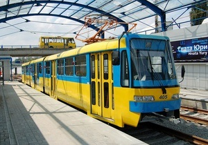 Киев открыл первую очередь реконструированного скоростного трамвая на Борщаговку