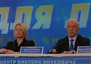 Азаров: Нам известны все люди, которых Тимошенко уже привезла в Киев