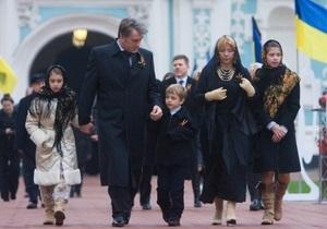 Дети Ющенко хотят на Рождество гитару, хомячка и дельфина
