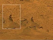 На поверхности Марса обнаружили человекоподобную фигуру