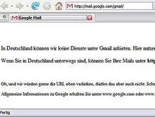 Немцам перекрыли доступ к Gmail