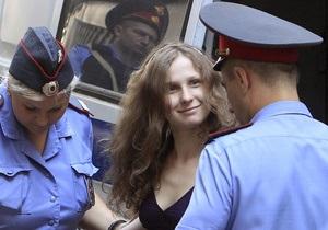У заключенной участницы Pussy Riot случился нервный припадок