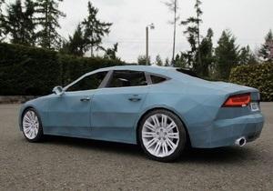 Дело: Американский дизайнер украинского происхождения собрал Audi A7 из бумаги
