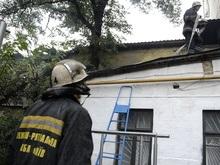В Киеве второй раз горело здание Союза художников Украины
