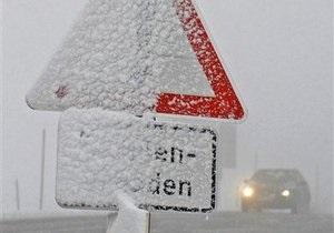 Первый снег в Бельгии привел к образованию пробок длиной в 347 км