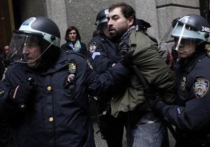 В США арестовали около 450 участников движения Захвати Уолл-Стрит