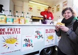 Революция картошки фри: Бельгийские студенты провели акцию против политического кризиса