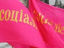 В офис Соцпартии в Киеве бросили бутылки с коктейлем Молотова