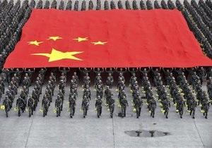 Китай объявил о мирном характере своей армии