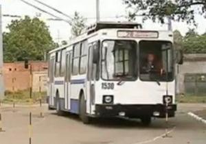 В Днепропетровске проходят соревнования среди водителей троллейбусов