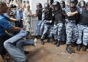 Арестован подозреваемый в избиении милиционеров во время акции против языкового закона