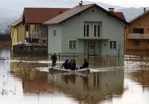 Балканские страны обратились к НАТО за помощью в борьбе с наводнением