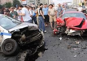 В Москве произошло ДТП при участии Ferrari и машины ГИБДД