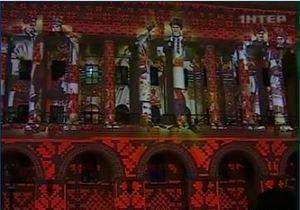 В новогоднюю ночь на киевском Майдане показали 3D-шоу