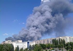 В Броварах вспыхнул сильный пожар (обновлено)