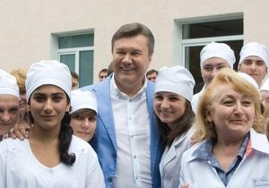 Янукович открыл роддом