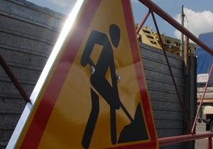 В Киеве ограничили движение транспорта на пересечении бульвара Дружбы народов и Надднепрянского шоссе
