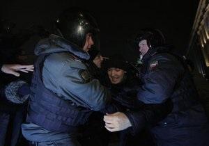 Новости России- оппозиция России - Стратегия-31 - Эдуард Лимонов - Нровости Москвы - На Триумфальной площади задержали 22 оппозиционеров