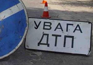 В Киеве трамвай столкнулся с Mitsubishi