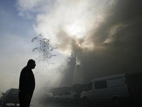 В московском торгово-развлекательном центре начался сильный пожар