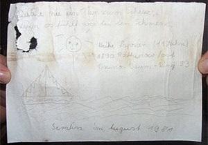 В Германии семейная пара нашла бутылку с письмом тридцатилетней давности